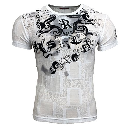 T-Shirt 515 Hellblau Rusty Neal Kurzarm Rundhals Angebot A1515RN, Größe:M, Farbe:Blau