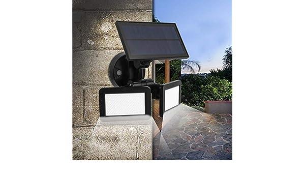 nueva yarda LED Solar Sensor iluminación trasera yarda luces modo tercera marcha gente sentido súper luces césped al aire libre luces: Amazon.es: Iluminación
