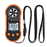 Neoteck Anemometer Digital Wind Gauge Air Flow Meter Wind Gauge Speed Meter Thermometer with Backlight LCD Display And Max/ Average/ Current Wind Speed for Windsurfing Flying Sailing Surfing Fishing Outdoor Sports Etc.