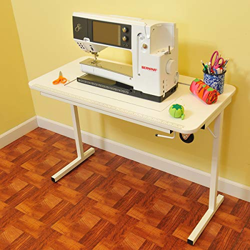 (Arrow Sewing Cabinet Gidget II Portable Sewing Table - White)