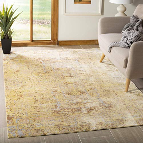 Gold Rug - Safavieh Mystique Collection MYS971C Vintage Watercolor Gold and Multi Distressed Area Rug (3' x 5')