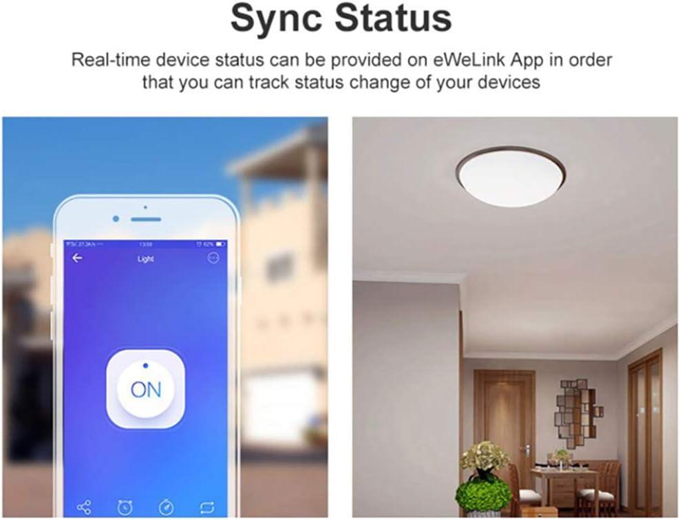Winbang Interruptor inal/ámbrico WIFI temporizador de luz Smart Home LAN Voz M/ódulo de control remoto de luz DIY Compatible con SONOFF Basic R3