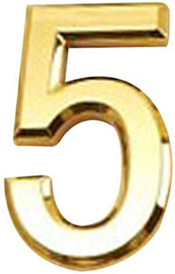 Fornateu habitaci/ón N/úmero 0-9 electrochapado pl/ástico KTV Espejo como Golden 5 cm Tarjeta KTV Cuarto de Hotel Puerta N/úmero Se/ñalizaci/ón