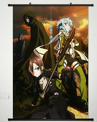Sword Art Online Wall Scroll Poster Fabric Painting For Anim