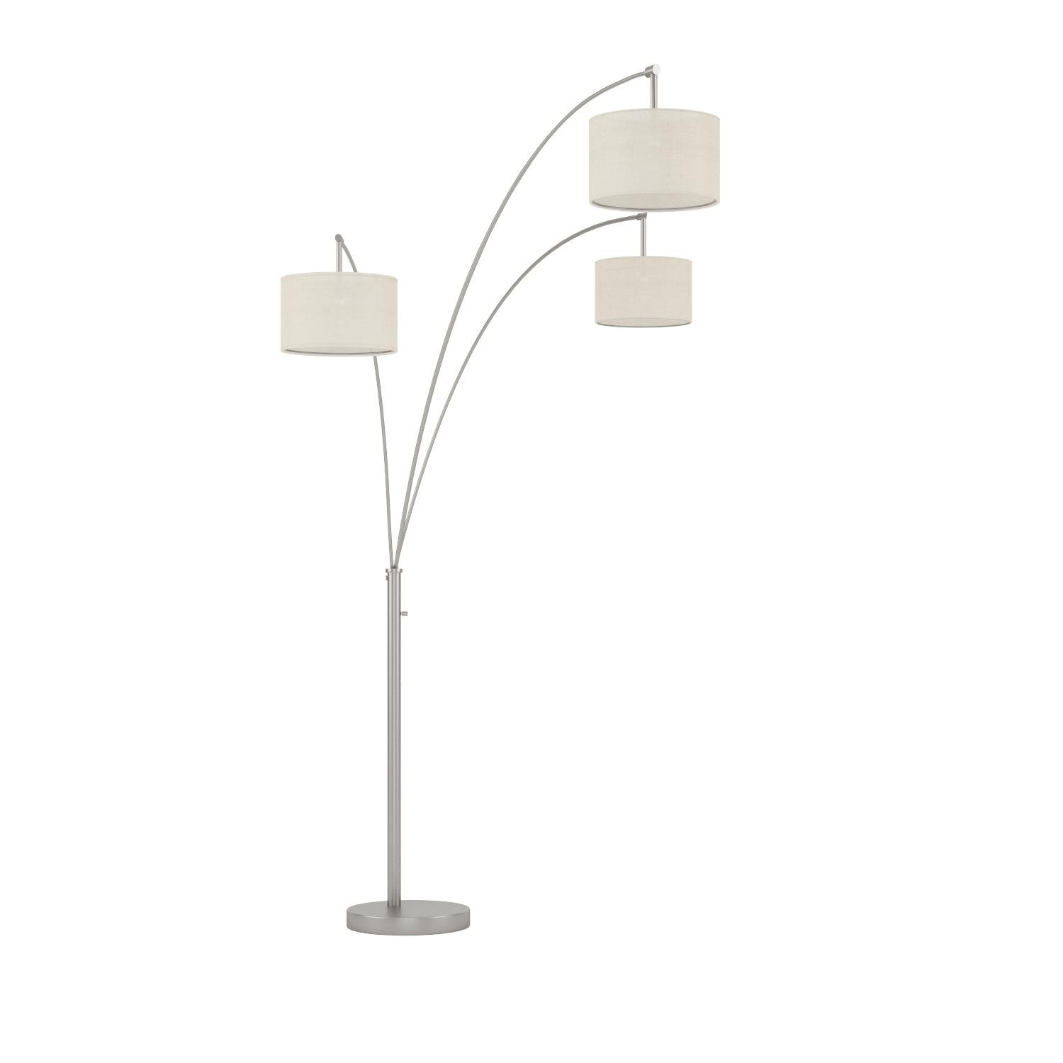 Artiva USA LED602108FSN Lumiere Modern LED 80-inch 3-Arched Brushed Steel Floor Lamp with Dimmer, 76, 71 inches high x 36 inches Wide x 36 inches Long by Artiva USA
