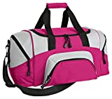 Port & Company Color Block Sport Zipper Duffel Bag_Tropical Pink_One Size For Sale
