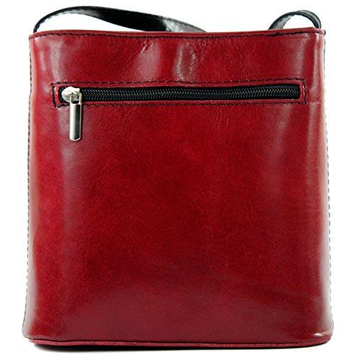 Schwarz main sacoche italien Sac sac petite Dunkelrot D1 femme sac à sac à pour bandoulière xxnqIBw6v4