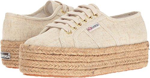 Superga Women's 2790 Linen Platform Espadrille Sneakers - Natural (Large Image)