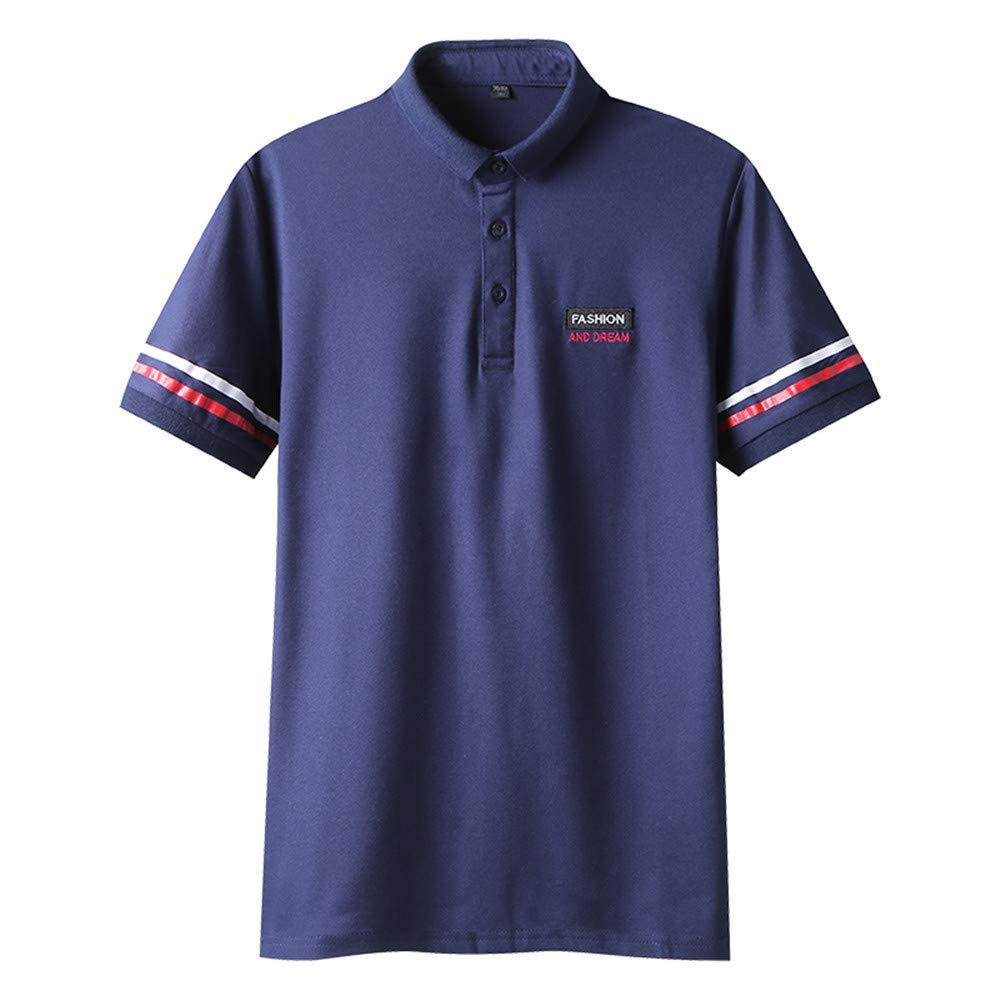THECAT Men Polos Homem Breathable Cotton Mens Polo Shirts for Men Short Sleeve Polos