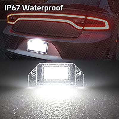 RUXIFEY LED License Plate Lights Lamps Compatible with Dodge Challenger Charger Avenger Magnum Dart, 6000K White: Automotive