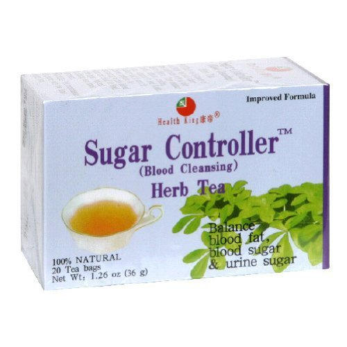 Health King Sugar Controller Blood Cleansing Herb Tea - 20 Tea Bags pack of -6 by Health King (Controller Sugar Herb Tea)