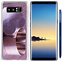Luxlady Samsung Galaxy Note8 Clear case Soft TPU Rubber Silicone IMAGE ID 26037820 Iron heart for cooking over wooden background