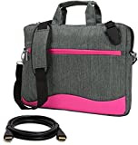 VanGoddy Wave Magenta Anti Theft Messenger Bag for Acer TravelMate P2 , P4 , P6 / ChromeBook 14 , 15 C910 14