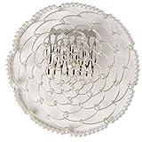 Greenfeld Judaica White Flower Design Woman's Elegant Beaded Wire Kippah