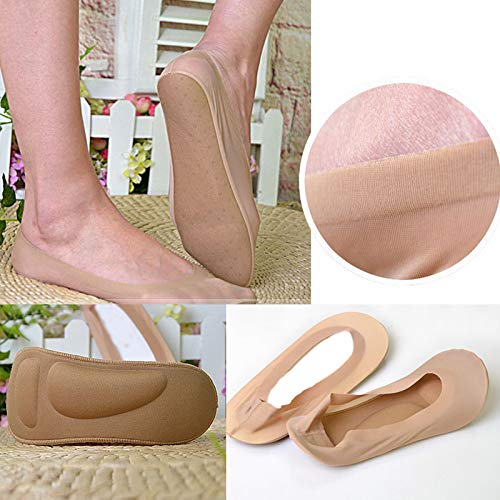 WOMEN 3D CUSHION INVISIBLE ARCH SUPPORT HIGH HEELS BOAT SOCKS MASSAGE LINERS