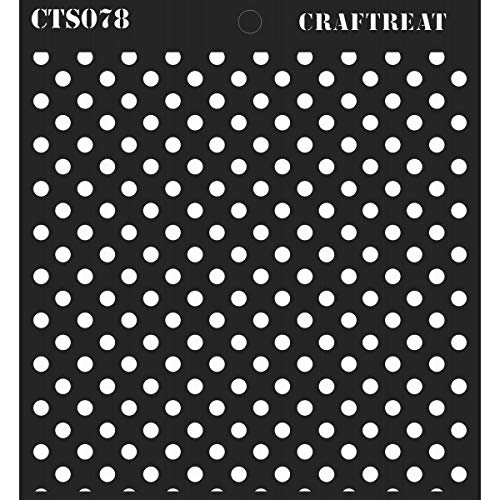 (CrafTreat Stencil - Bold Polka Dots | Reusable Painting Template for Journal, Notebook, Home Decor, Crafting, DIY Albums, Scrapbook and Printing on Paper, Floor, Wall, Tile, Fabric, Wood)