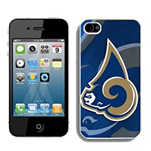 NFL St. Louis Rams Iphone 4s or Iphone 4 Case With NFL St. Louis Rams logo2