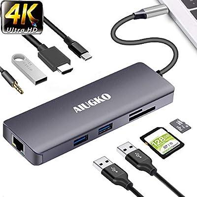 Amazon.com: Aiugko USB C Hub 9-in-1 USB C Adapter Hub to ...