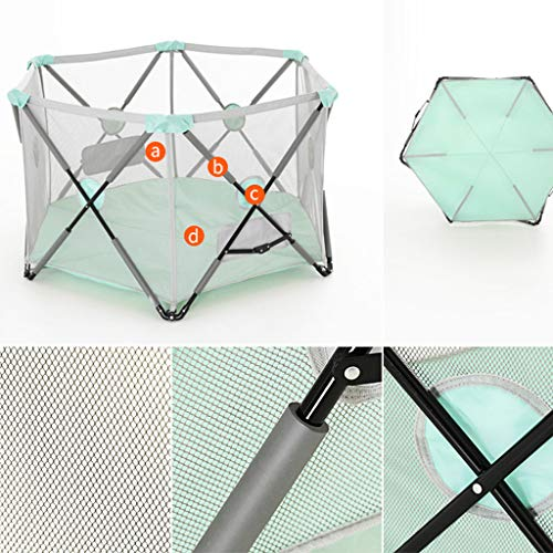 Playpen Tent Baby Safety Gate Portable & Travel Kids Ball Pit Playpen Ball Pool,Indoor and Outdoor Easy Folding Play House Play Space for Children Baby (Excluding The Ball) by CGF- Baby Playpen (Image #2)