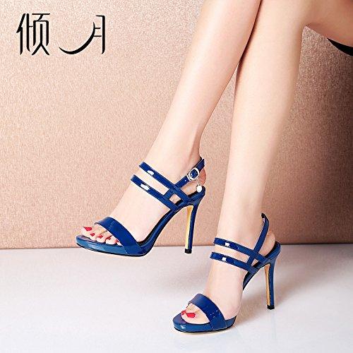 Unique Chaussures Eu38 Aux Imperméable Shoeshaoge Haut Des Pour Couleur Femme talons Rosée 115 Fendue La Minces Talon En De Sandales Avec Bouts Hauts Nue Romaine uk5 wqRvxwgA