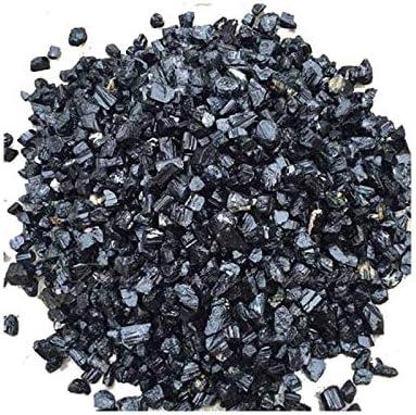 Rough negro turmalina 250.00 Ct Natural negro turmalina Raro sin cortar No tratado Piedras preciosas sueltas Lote