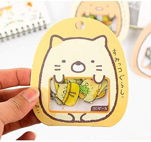 À faire soi-même 6X//set Cartoon Stickers Cute Animal Journal Transparent Scrapbooking autocollants