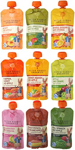 (Peter Rabbit Organics 100% Pure Baby Food 10 Flavor Variety,   (Pack of)