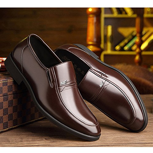 DeLamode Men Old People Leather Shoes Business Foot Sapatos Father Gifts Brown-38 by DeLamode (Image #5)