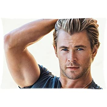 Amazon Com Chris Hemsworth Custom Zippered Pillow Case