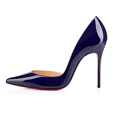 Amazon.com   Jushee Women's MRslgedi Stiletto High Heels Closed ...