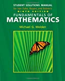 img - for Student Solutions Manual for Van Dyke/Rogers/Adam s Fundamentals of Mathematics, 9th book / textbook / text book