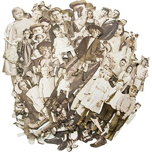 Tim Holtz TIMTH.93555 Paper Dolls by Idea-ology, Card Stock, 107 Dye-Cut Printed Pieces (TH93555) -