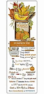 Mary Lake Thompson Flour Sack Recipe Towel - Traditional Autumn Pumpkin Pie Recipe