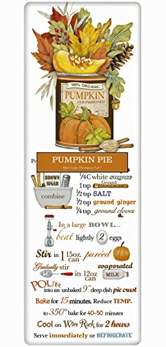 Mary Lake Thompson Flour Sack Recipe Towel - Traditional Autumn Pumpkin Pie Recipe -