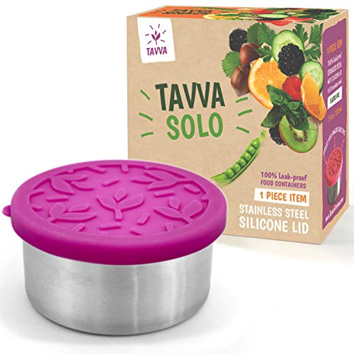 TAVVA Stainless Steel Food Container 12oz - Premium Stainless Steel with Food-grade Silicone Lid - Leakproof, Easy to Open, Ocean-Friendly, Dishwasher Safe- Also Suitable as Salad Container for Lunch