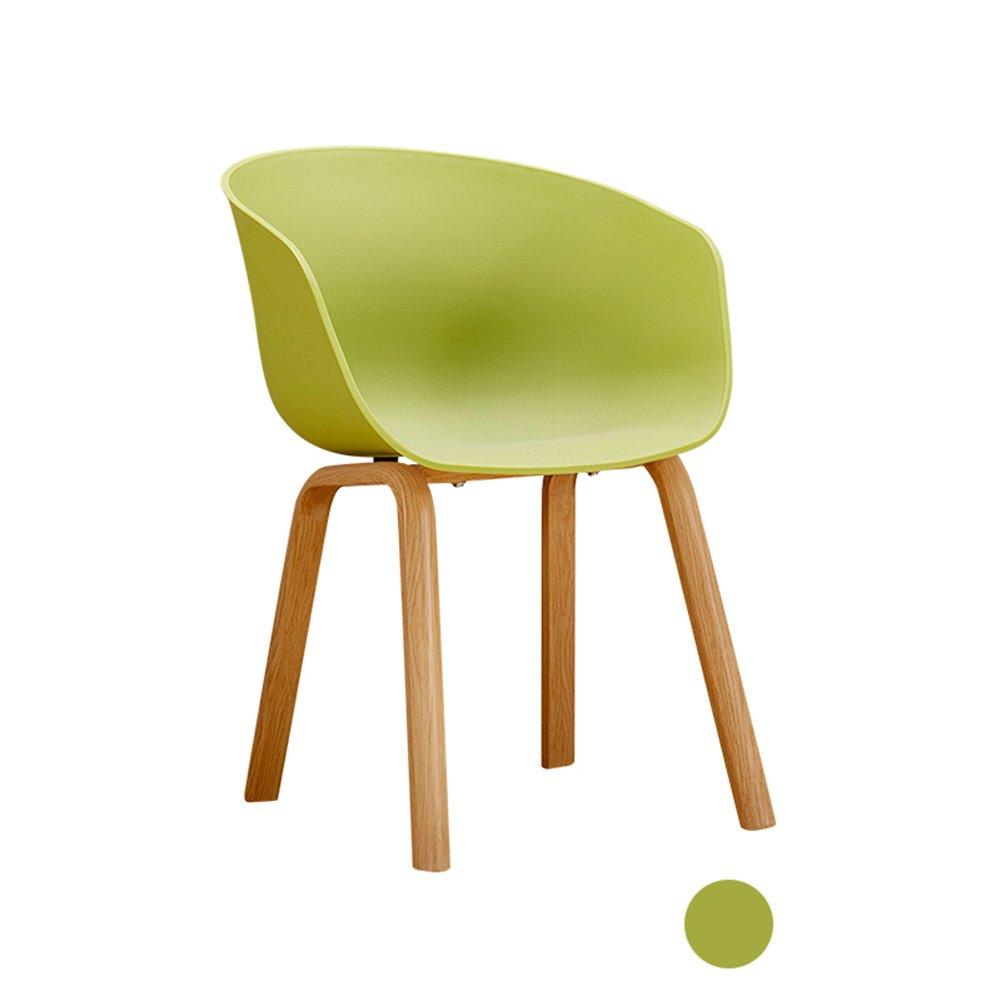 ZEMIN ダイニングチェア椅子の木の木製折り畳み 椅子ソファーシートスツールテーブル背もたれアームレストクリエイティブソリッドウッドレッグスカラフルな、7色、48x44x78CM ( 色 : 緑 ) B0797PBWJT緑