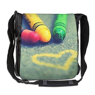82af49809f40 best Love Heart Rainbow Crayon Fashion Print Diagonal Single ...