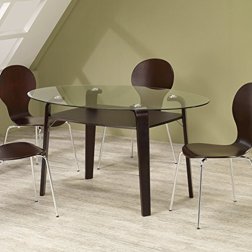 Bed Set Dining Room (Coaster Oval Dining Table 120791 - Cappuccino Finish)