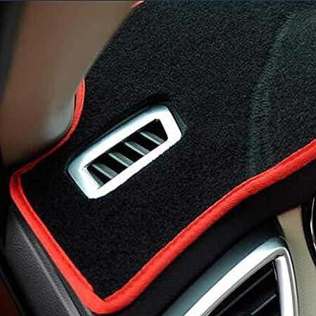 Couverture de tableau de bord de voiture tapis de tableau de bord pour Ford Focus 2 MK2 2005 2006 2007 2008 2009 2010 2011,Black