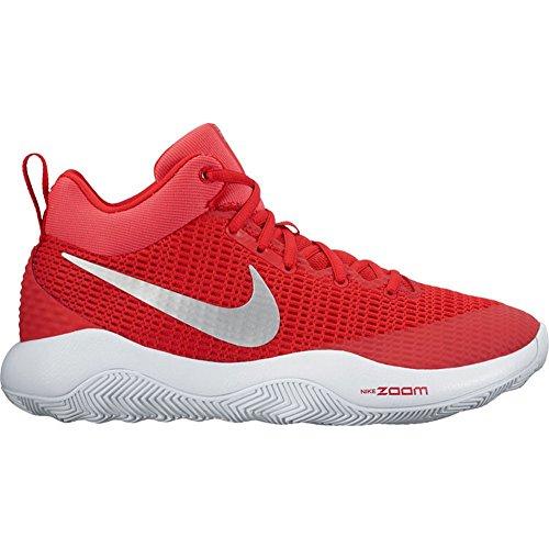 NIKE Mens Zoom Rev TB Basketball Shoes Red/Metallic Silver-White (922048-600) Size 6.5 dudJ0lg