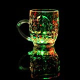 X&L Creative LED luminous cups water induction beer mug / luminous cup / discoloration cup KTV bar nightclub (battery purchased by the buyer) , 8*9.7*5.5cm