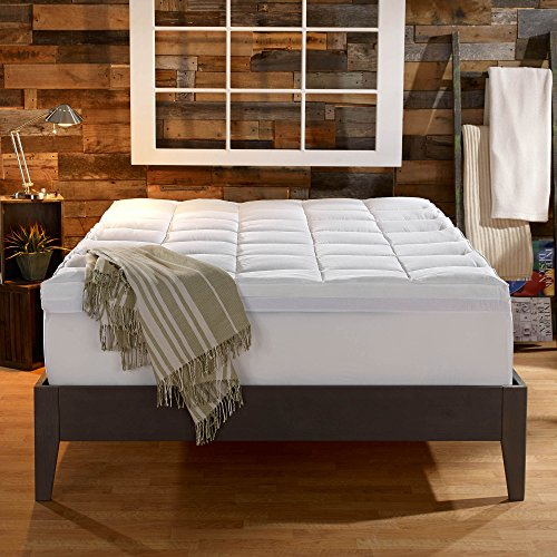 Sleep Innovations Gel Memory Foam 4-inch Dual Layer Mattress Topper, Made in the USA with a 10-Year Warranty - King Size
