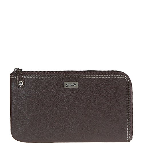 Buxton Westcott L-Zip Expandable Wallet (Brown)