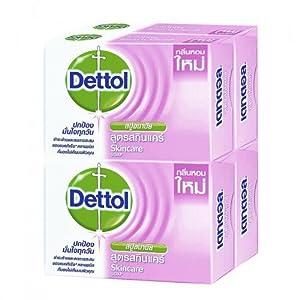 Dettol Soap Skin Care 105 g Pack 4