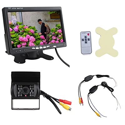 "7"" High-resolution TFT Car Auto Rearview LCD Mirror Monitor + Waterproof Wireless Car Night Version Reverse Backup Camera Kit from The Rear View Camera Center"
