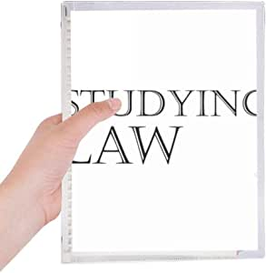 Cuaderno de frase corta para estudiar leyes, diario de