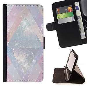 Momo Phone Case / Flip Funda de Cuero Case Cover - Blanc Univers Chevron rose - LG G4 Stylus H540