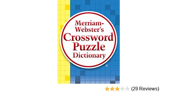 Merriam Webster S Crossword Puzzle Dictionary Kindle Edition By
