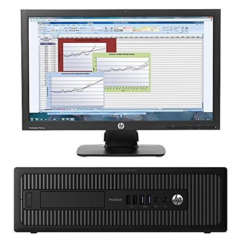 HP EliteDesk 800 G1 Desktop Computer Tower PC, Intel Core i5 3.4GHz, WiFi, DVD-RW, (Bulit Your Own Computer Up to 16GB Ram, 2TB HDD/SSD) Optional Monitor (Renewed)