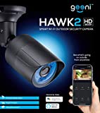 Geeni Hawk 2 1080p Outdoor Smart Wi-Fi Security Camera with Night Vision, Motion Alerts and IP66 Weatherproof, Black
